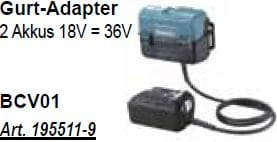 BCV01 Gurt-Adapter