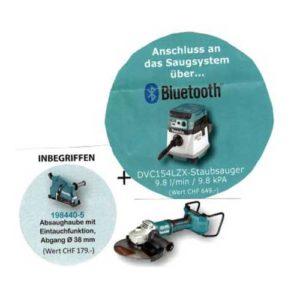 DGA901ZU 300x300 - DGA901ZU Winkelschleifer + Staubsauger MAG